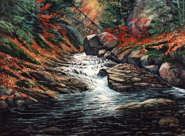 Autumn Brook Painting