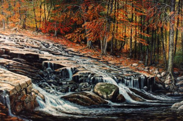 Autumn Cascade Painting