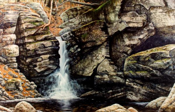 Woodland Falls Painting
